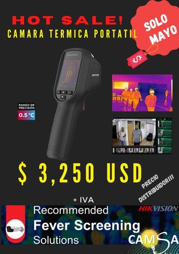 cámara portátil para medición de temperatura corporal