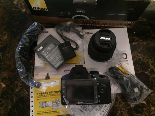 cámara profesional alta calidad nikon d3200 sin uso con todo
