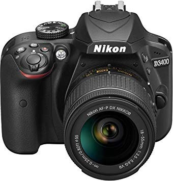 camara profesional nikon d3400 (como nueva)
