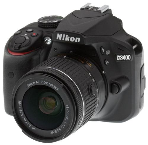 camara profesional nikon d3400 lente18-55mm