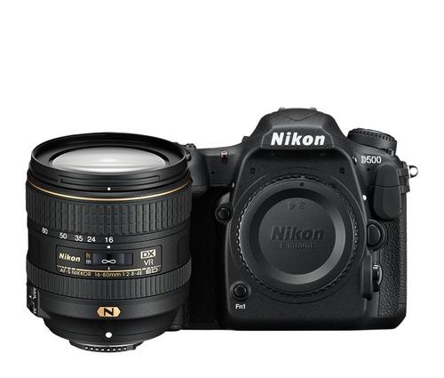 camara profesional nikon d500 lente 16-80mm vr