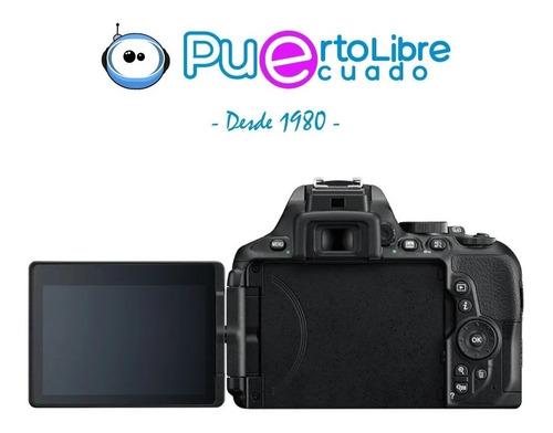 camara profesional nikon d5600 + lente + maleta + memoria