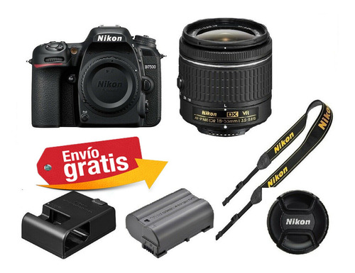 camara profesional nikon d7200 lente 18.55mm wifi 24.2mp hd
