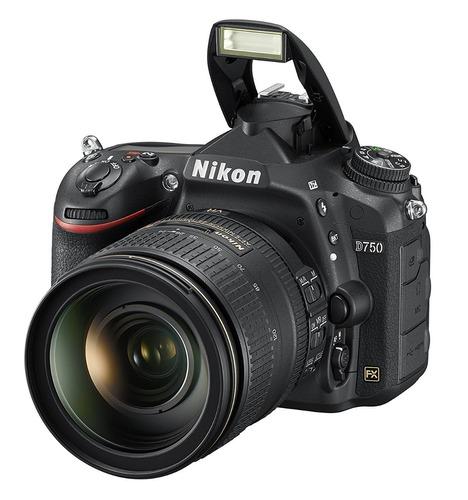 cámara profesional nikon d750 con lente 24-120mm