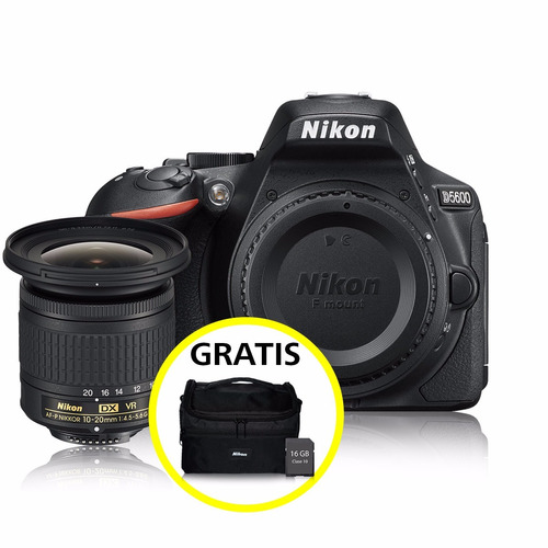 cámara profesional nikon reflex d5600 c/10-20mm