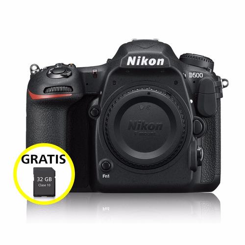 cámara profesional reflex nikon d500 cuerpo 4k uhd