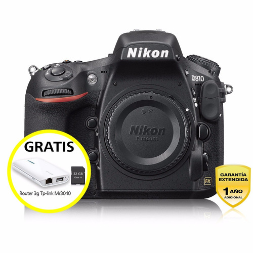 cámara profesional reflex nikon d810 c/24-120mm vr fx