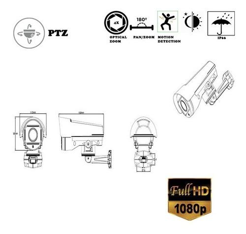 camara ptz hd 1080p movil bullet lente varifocal motorizado