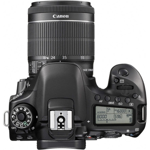 camara reflex canon 80d lente 18-55mm + 16gb + control + uv