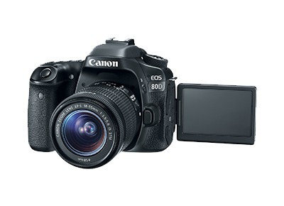 cámara reflex canon eos 80d 18-135 is usm 7fps 45 puntos af