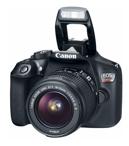 cámara reflex canon eos rebel t6 2 lentes 75 300 ,18 55 full