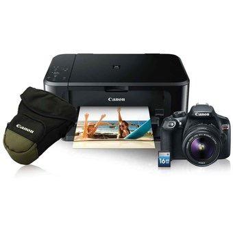 cámara reflex canon eos rebel t6 wifi 18-55mm + sd16+ mg3610