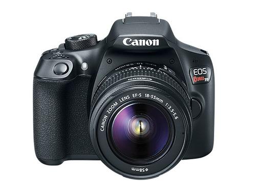 cámara reflex canon eos rebel t6 wifi lente 18-55 sd 16gb