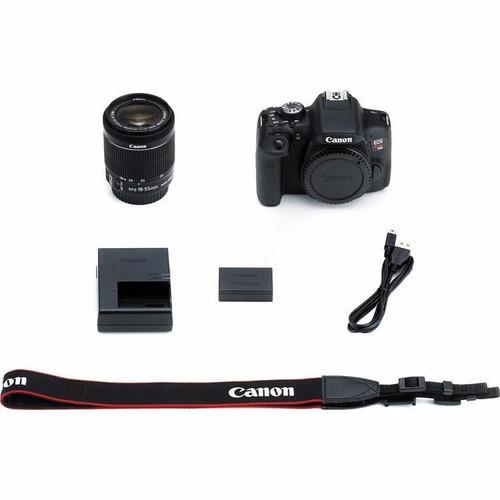 cámara reflex canon eos rebel t6 wifi nfc 18mp lente 18 55