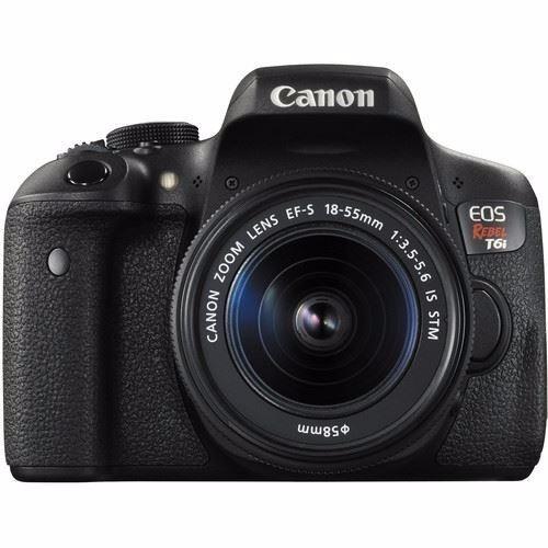 cámara reflex canon eos rebel t6i wifi nfc lente 18 55