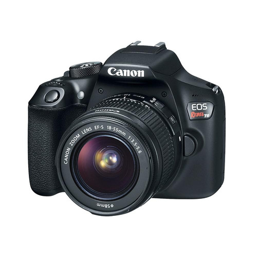cámara reflex canon eos t6 wifi 18mp kit lente 18-55mm +16gb