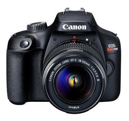 cámara reflex canon t100 premium kit