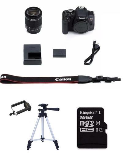 cámara reflex canon t6 lente 18-55mm + tripie + memoria 16gb