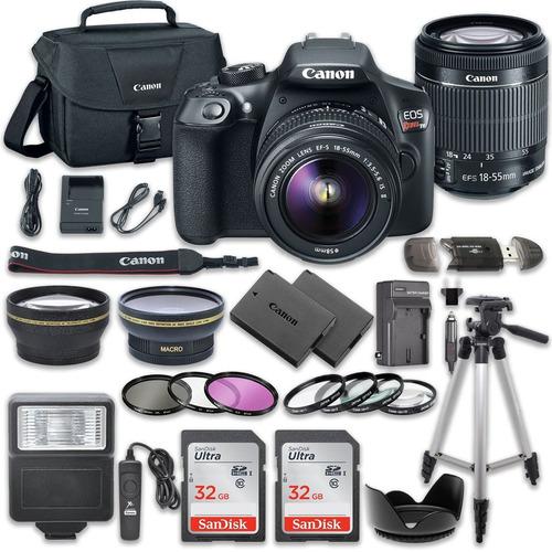 cámara réflex digital de canon eos rebel t6 paquete con c
