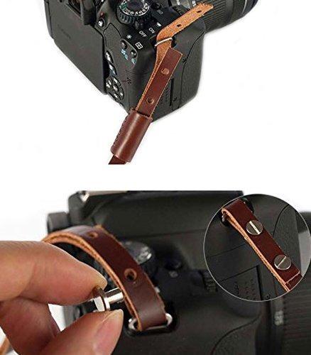 cámara réflex digital de cuero megagear, correa de mano de