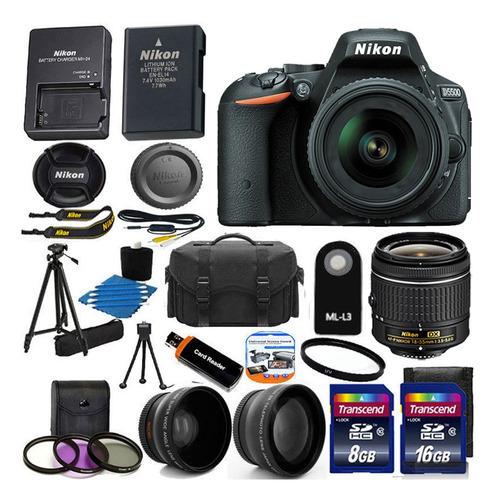 cámara réflex digital nikon d5500 mega pack regalos nueva