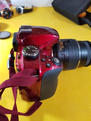 cámara réflex nikon d3300 24mpx lente 18-55mm
