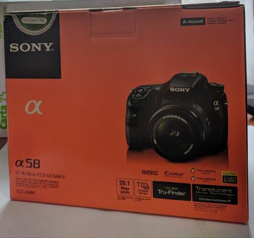 cámara reflex sony alpha a58k camara fotografica - pal celu
