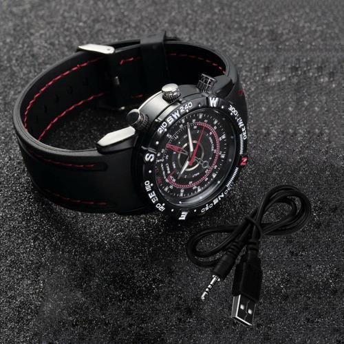 cámara reloj de vestir 8gb / micrófono / correa de goma