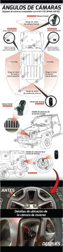 cámara reversa + mirrorlink car play  para jeep wrangler