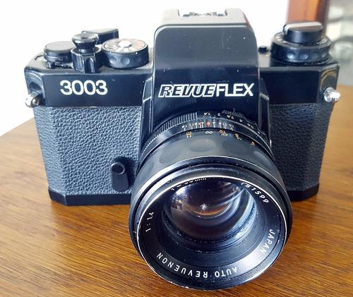 camara revueflex 3003 + revuenon 1.4/55 55mm f 1.4 m42 m-42