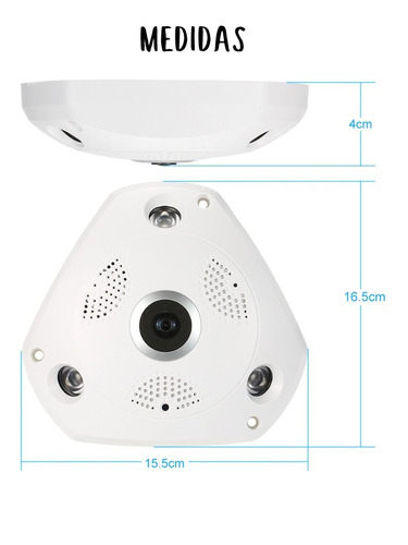camara sectec rj45 wifi vr smart ip panoramica 360º