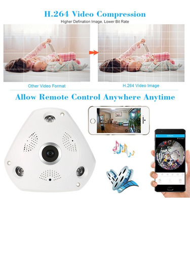 camara sectec rj45 wifi vr smart ip panoramica 360º msi