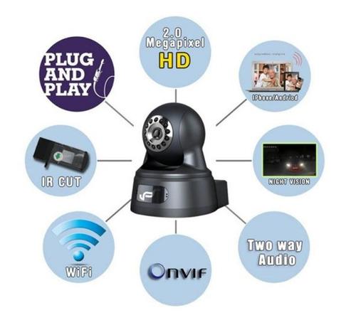 cámara seguridad 2 mpx robotica wifi ip eye01w - negra