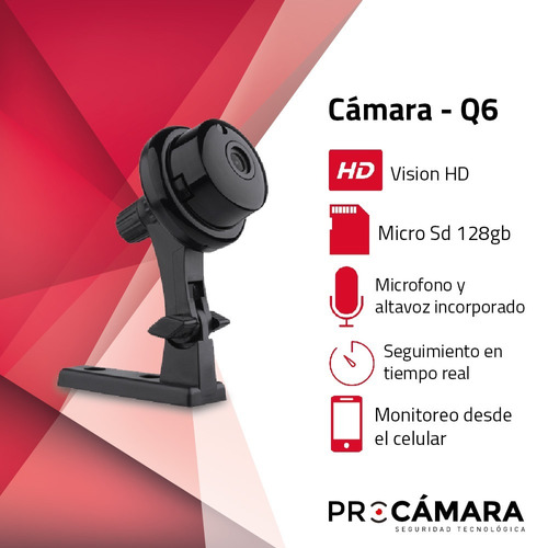 camara seguridad dvr hd wifi infrarrojo compacta micrófono