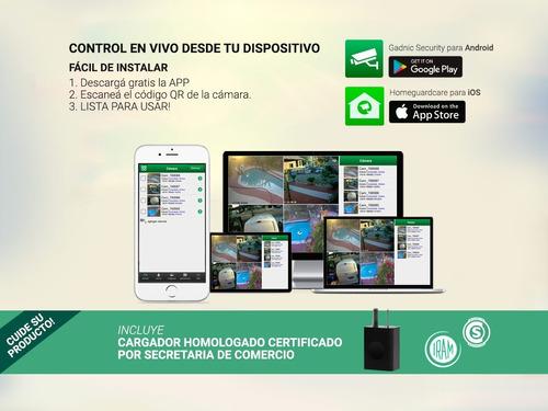 cámara seguridad exterior p2p ip wifi vision nocturna app