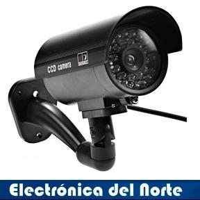 camara seguridad falsa tubular con luz led + audifono gratis