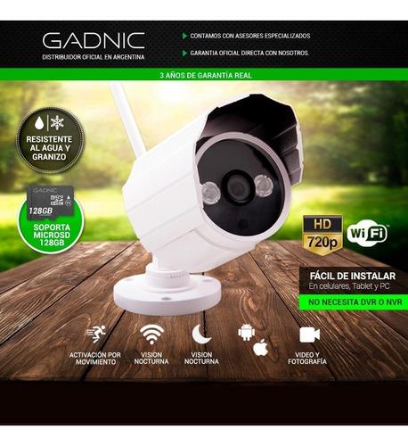 camara seguridad gadnic ip p2p hd wifi vision noche exterior