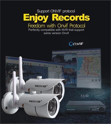 cámara seguridad hd ip wifi uso exterior dvr p2p app email