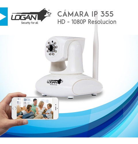 camara seguridad ip inalambrica 355 hd 1080p motorizada wifi