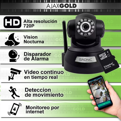 cámara seguridad ip motorizado p2p wifi vision nocturna hd