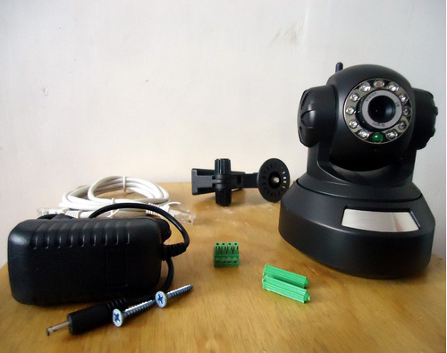 cámara seguridad ip wifi robotizada visión nocturna sd card