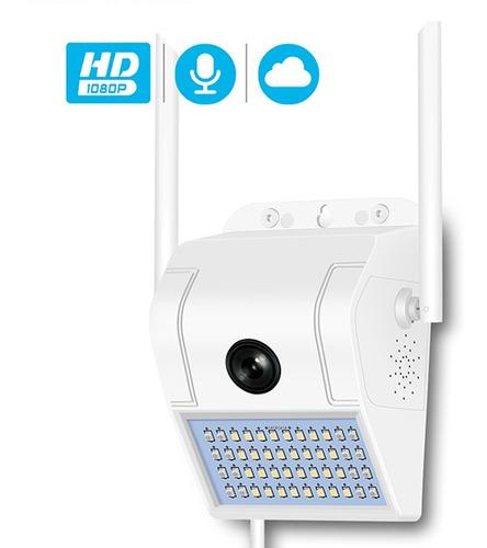 cámara seguridad reflector wifi 1080p full hd exterior audio