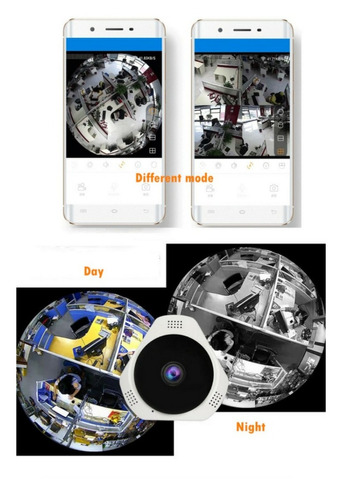 camara seguridad wifi 360 ojo pescado / boris importaciones