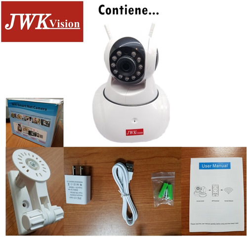 camara seguridad wifi ip hd 960p nocturna motorizad jwk