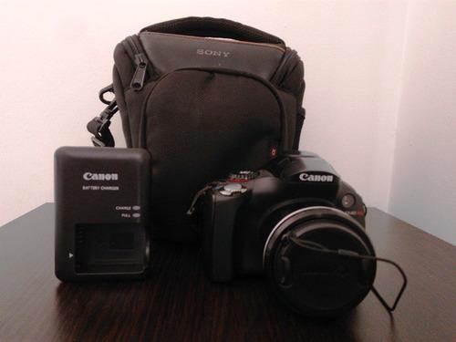 cámara semiprofesional canon sx40hs full hd 35x con estuche