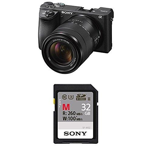 cámara sin espejo a6500 de sony con lente de 18-135 mm con l