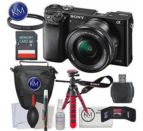 cámara sin espejo sony a6000 con lente de 16-50 mm + paquete