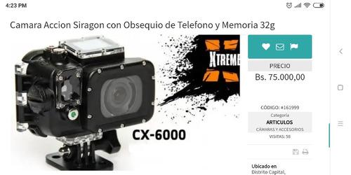 camara siragon xtreme cx 6000 7000 gopro
