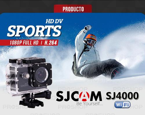 cámara sj4000 +wifi sjcam original full hd 1080p+2 baterias
