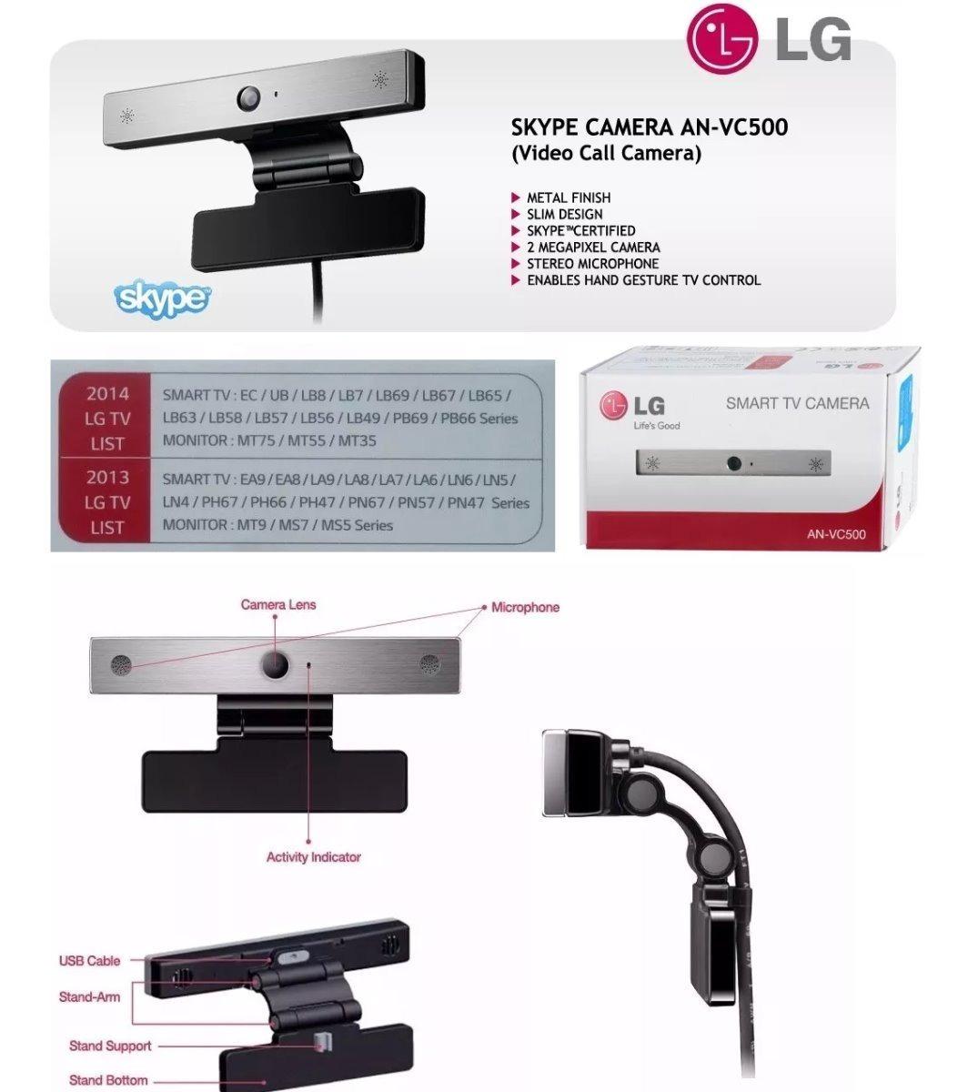 Camara Skype Smart Tv Lg An-vc500 Lineal Ea Eb Ec Ub La Ln